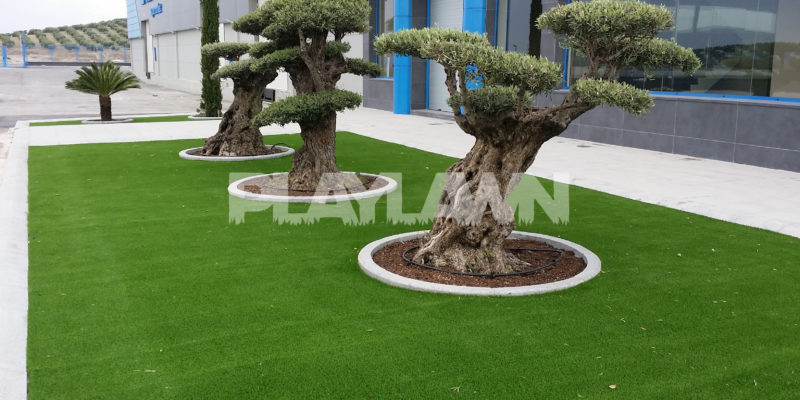 decorar con cesped artificial