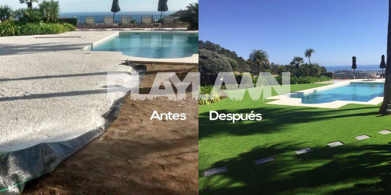 Césped Artificial Málaga | Antes y Después Madroñal | Playlawn