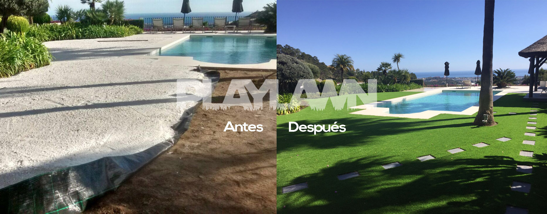 Antes y despu s archivos playlawn - Cesped artificial malaga ...