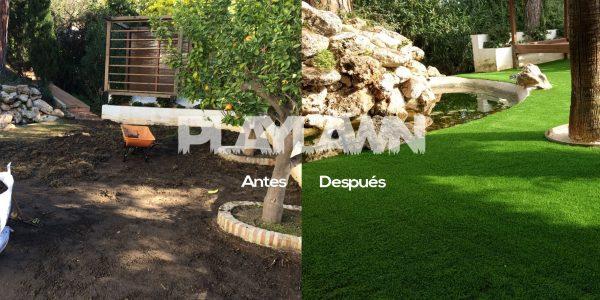 Césped Artificial Málaga | Antes y Después Madroñal 2 | Playlawn